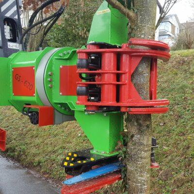 Greifersäge Baumschere GS 650 Teleskop für Bagger