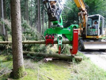 Baumschere / Fällgreifer HBS 450 für Baggeranbau